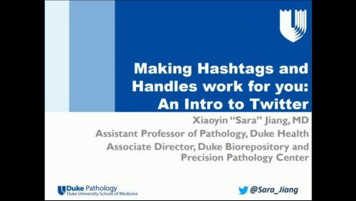 FAME - Clinical: Social Media - Making Hashtags and Handles
